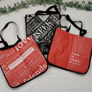 Lot of 3 Special Lululemon Reusable Bags Large